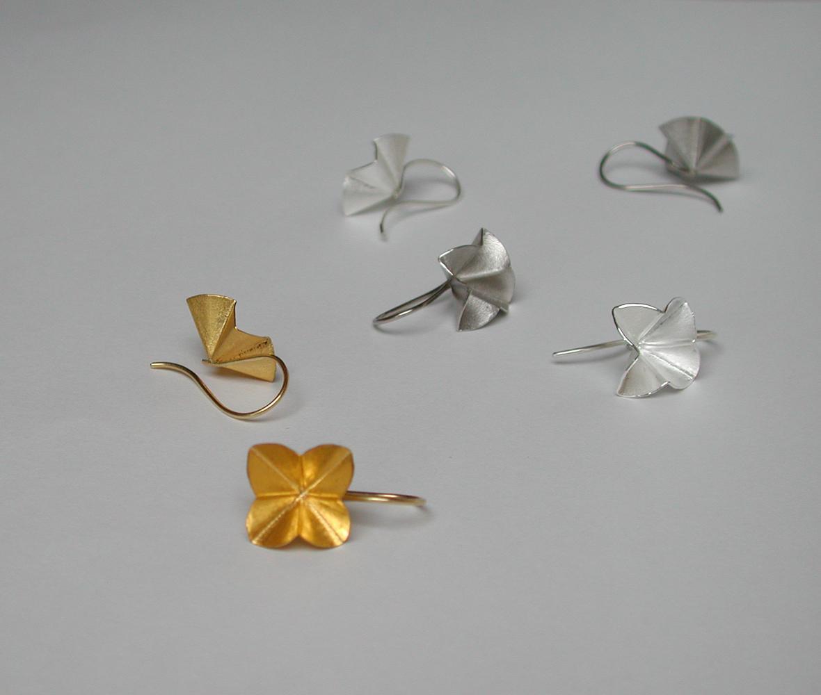 earrings ALFALFA  gold or fine silver