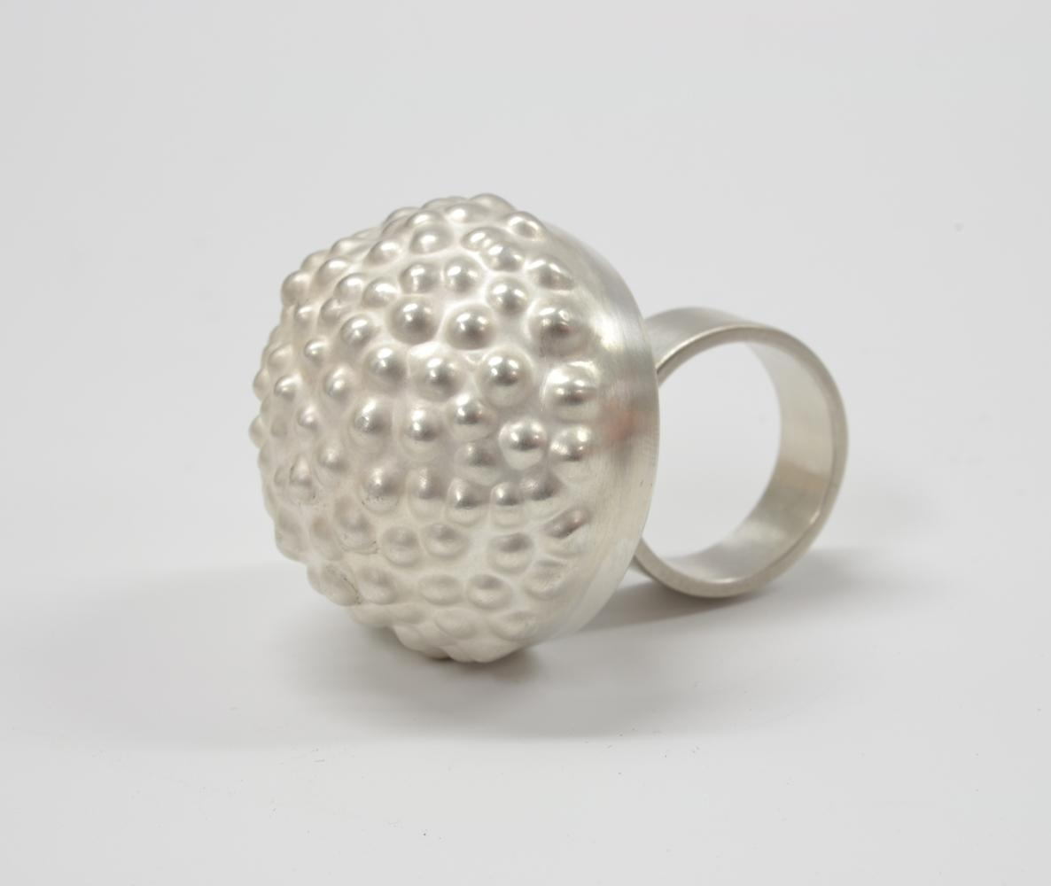 ring BULBOUS silver